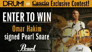 Omar Hakim signed Pearl Snare