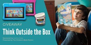 One lucky grand prize winner will receive a Think Outside the Box prize pack!  It includes: A hardcover copy of Think Outside the Box. A pair of Fire 7 Kids Edition Tablets. A Creative Thinking in a Jar set.