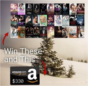 ONE lucky reader will win 30 romance e-books (selected by participating authors) and a $330 Amazon gift e-card just in time for Christmas!