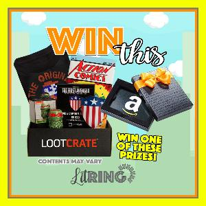 One lucky reader will win a LootCrate or Amazon gift Card!