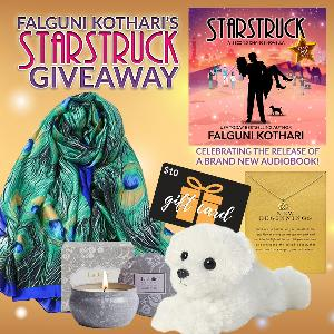One lucky reader will win a Starstruck prize pack including a lotus charm, peacock scarf, Blue Lotus scented candle, and a $10 Amazon gift card!
