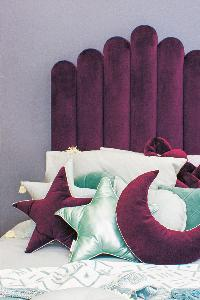 One lucky VISI reader will win a single velvet Biscuit Headboard in aubergine from CLM Home, worth R4 990!