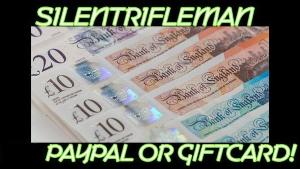 ONE LUCKY WINNER WILL RECEIVE..1x £15 Which will be paid to the winner via Paypal Or Giftcards - (Xbox)!!