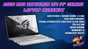 ONE LUCKY WINNER WILL RECEIVE..1x Asus ROG Gaming Laptop worth $1400!!