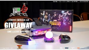 ONE LUCKY WINNER WILL RECEIVE..1x Lenovo Mirage A.R Bundle!! Includes two games - MARVEL DIMENSION OF HEROES +STAR WARS JEDI CHALLENGES!!
