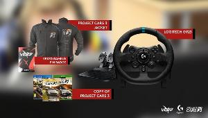 ONE LUCKY WINNER WILL RECEIVE..1x Logitech G923 Wheel and peddle set for Xbox, PC or PlayStation,1x Copy of Project Cars 3, 1x Project Cars 3 racing jacket & 1x Vexed Keyring!!