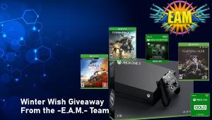 ONE LUCKY WINNER WILL RECEIVE..A Super Prize Bundle Including:  1x Xbox one X , 1x Titanfall 2 - Physical copy ..+ lots more...