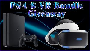 One lucky winner will receive PS4 & VR Bundle:  -Playstation 4 & VR System!!