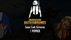 ONE LUCKY WINNER WILL RECEIVE..  PUBG GAME CODE FOR PC Redeemable on Steam