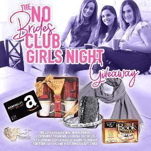 One reader will win a Girls Night prize pack, including a bangle, cashmere pashmina, Godiva cocoa set, cellphone clutch wallet, magnetic poetry kit, and a $25 Amazon gift card!