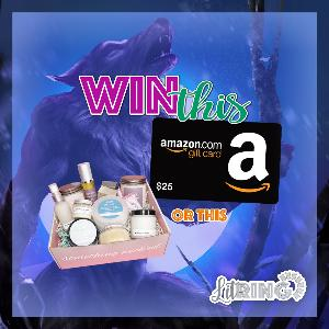 One reader will win their choice of 1 month of candle & spa Wicked Flame crate OR a $25 Amazon gift card!