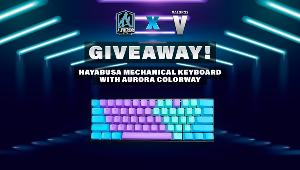 One winner will be selected at random to win a Hayabusa Mechanical Keyboard with Aurora Colorway!