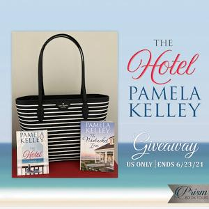 One winner will receive a gorgeous Kate Spade totebag with two signed paperbacks, one of The Hotel and one of The Nantucket Inn (US only)
