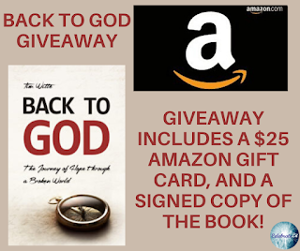 One winner will receive the grand prize package of a $25 Amazon gift card and a signed copy of the book!
