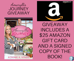 One winner will receive the grand prize package of a signed copy of the book and a $25 Amazon gift card!