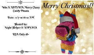 One WINNER will win a NIPYATA Merry Classy Candy Pinata