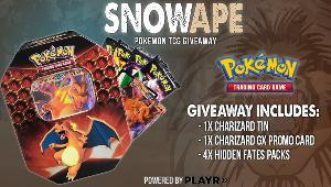 One winner will win a  Pokemon TCG Hidden Fates: Charizard GX Tin & two winners will win a Pokemon TCGO Booster Pack Code!!