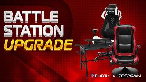 One winner will win a  Respawn Gaming Chair & Gaming Desk & One winner will win a 1 winner Respawn Racing Style Gaming Rocker Chair!