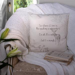 Outlander by Diana Gabaldon quote cushion from Angie Lee