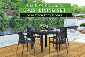 Outsunny 5-Piece Outdoor Dining Set ($279.99)