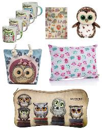 Owl Mugs, Pillow, Notebook, Plush, Tote Bag and Case Giveaway