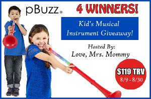 pBuzz Kid's Musical Instrument Giveaway!