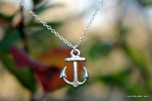 Petite Silver Anchor Necklace
