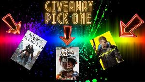 Pick your game giveaway! Win your choice of these games!!