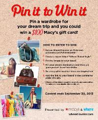 Pin It To Win It Macys Gift Card