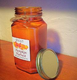 pumpkin harvest jar candle