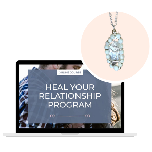 Quartz and White Shell necklace and Heal Your Relationship Program