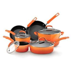 Rachael Ray 10-Piece Nonstick Cookware Set (ARV $245)