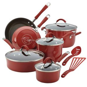 Rachael Ray 12-Piece Nonstick Cookware Set (ARV $300)