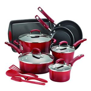 Rachael Ray 14-Piece Nonstick Cookware Set (ARV $290)