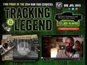 RAM Tracking a Legend | $25,00 Cash Sweepstakes