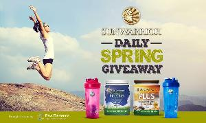 Raw Elements' Sunwarrior Giveaway - one winner each day in March!