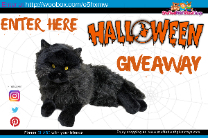 Realistic Halloween Black Plush Cat Giveaway!