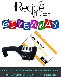 Recipe This Giveaway, A £20 Amazon Voucher and Lantana Knife Sharpener