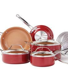 Red Copper 10-Piece Ceramic Cookware Set (ARV $99.99)