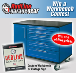 "Redline 48"" workbench with customizable colours and 24 drawers"