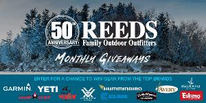 Reeds 50th Anniversary Calendar Giveaway - Monthly Prizes