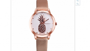 Rose Gold Watch with a Pineapple Logo ($35)