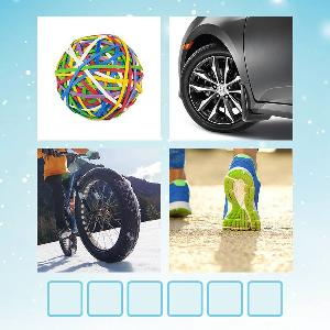rubber ball , tire, runners  bike tire