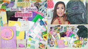 School Supplies + Makeup + Gift Cards Giveaway!