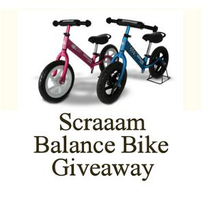 Scraaam Balance Bike Giveaway