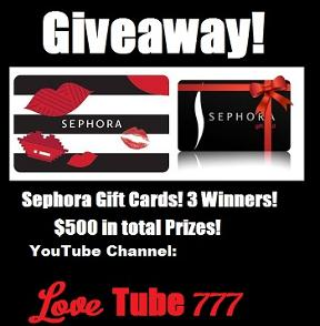 Sephora Gift Card Giveaway!