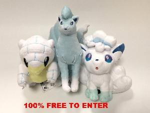 Set of 3 Alola Plush Toys