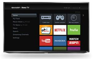 "Sharp 55"" 4K Smart TV with Roku ($480)"