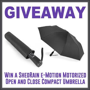 ShedRain e-Motion Motorized Open and Close Umbrella Giveaway