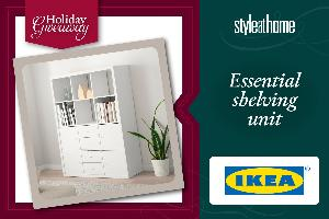 shelving unit from IKEA!""